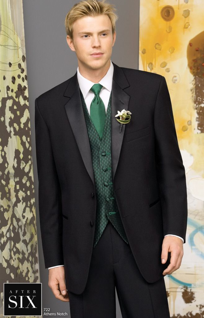 black suit dark green tie - photo #21