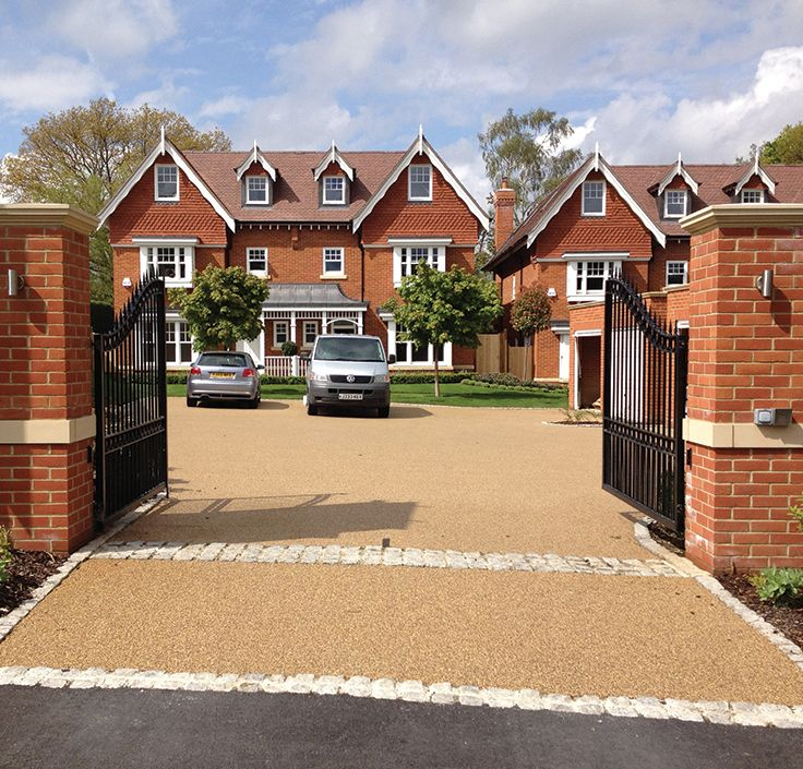 Perfect Permeable Resin Bound Car Park Installed By Clearstone Paving For Berkeley  Homes New Build Properties Called