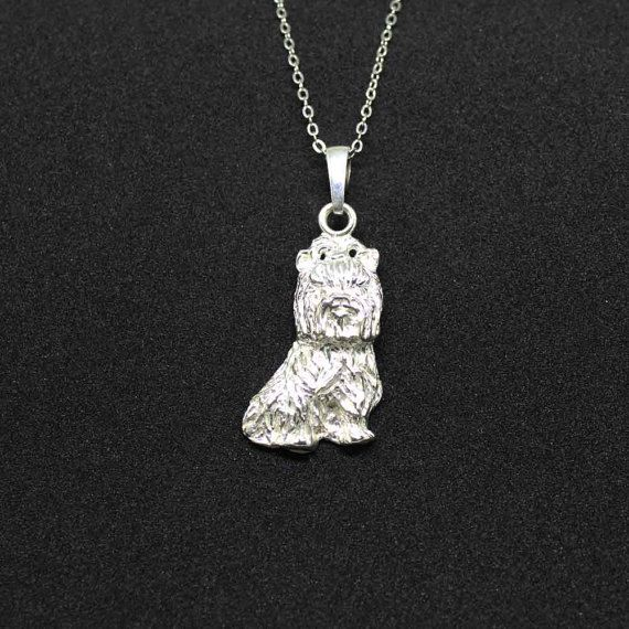 Yorkie jewelry pendant by jewelledfriend. Explore more products on http://jewelledfriend.etsy.com