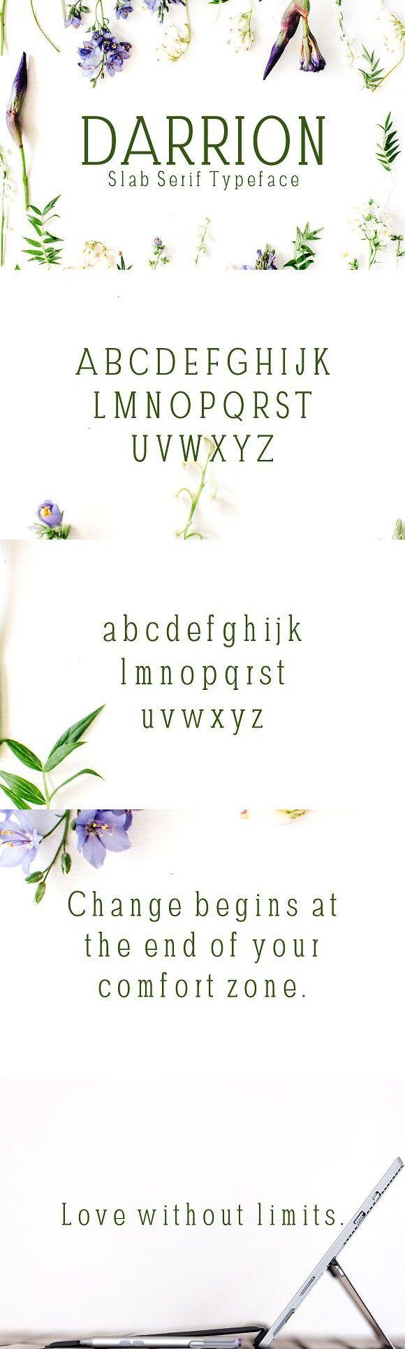 Darrion Slab Serif Typeface. Slab Serif Fonts