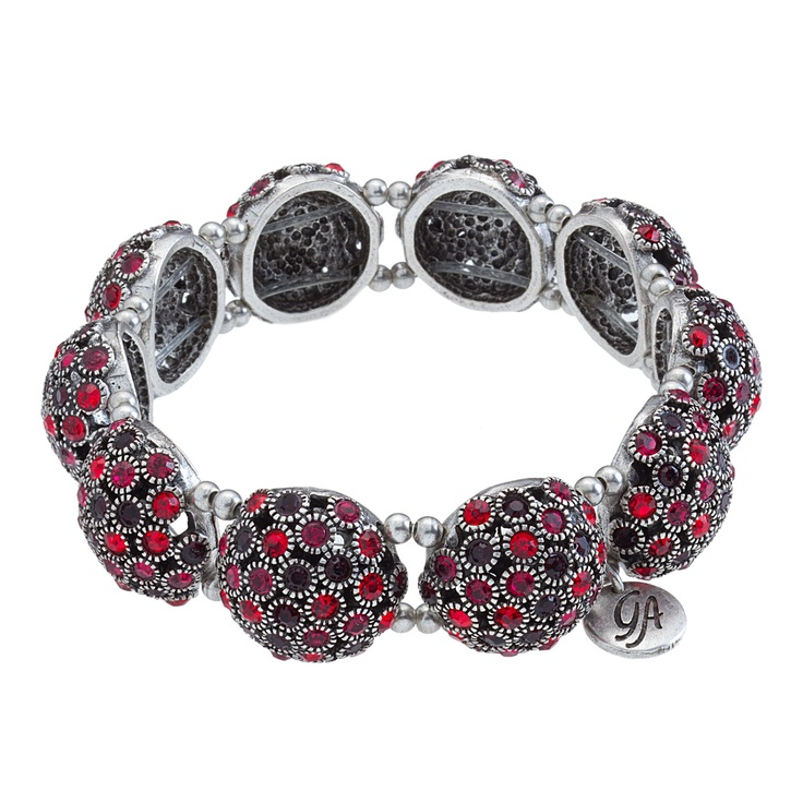The Grace Adele Bauble Bangle Bracelet in red