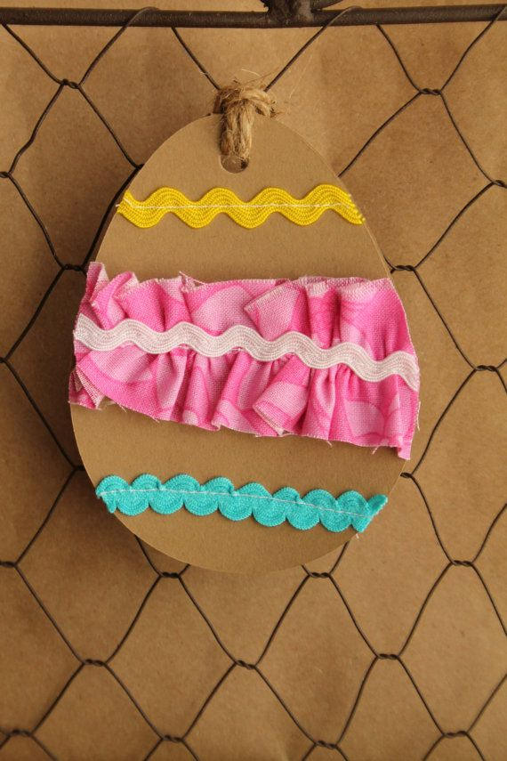 9 best images about gift wrap on pinterest floral of and easter egg gift tagfabric ruffle ric rac negle Choice Image