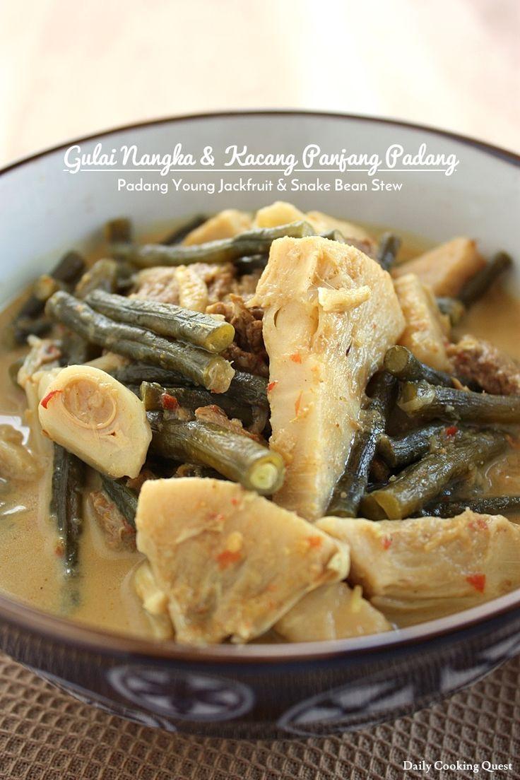 Gulai Nangka dan Kacang Panjang Padang - Padang Young Jackfruit and Snake Bean Stew