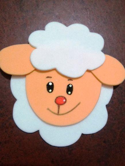Aplique ovelha carinha