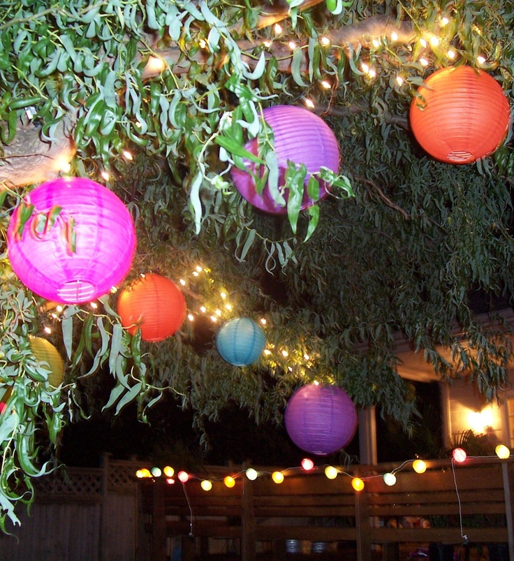 paper lanterns instead of balloons?