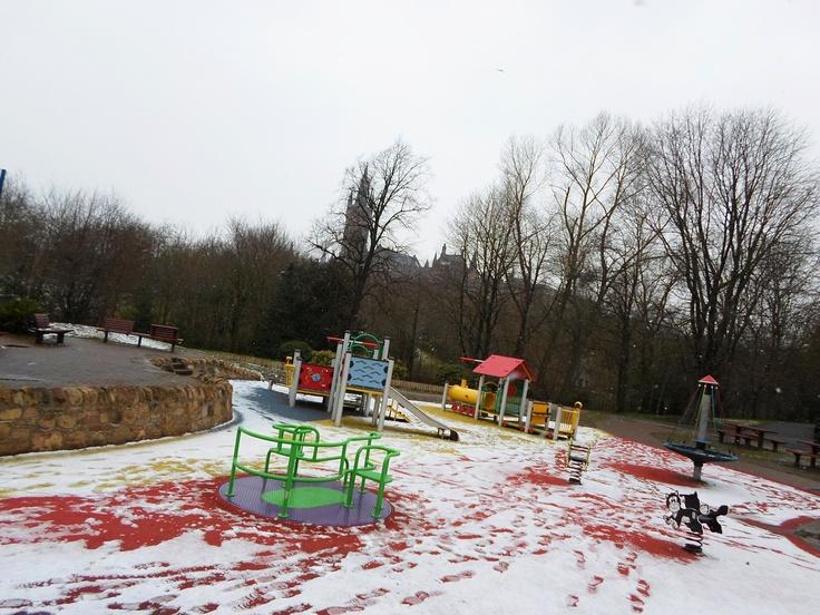 Games day in Kelvingrove Park.