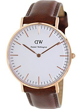 Daniel Wellington Women's 0507DW Classic St. Mawes Stainless Steel Watch with Brown Band ❤ Daniel Wellington