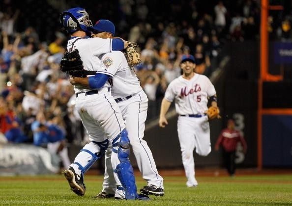 David Wright's joy.  Santana no-hitter
