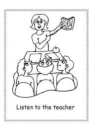 classroom rules coloring pages - photo#10