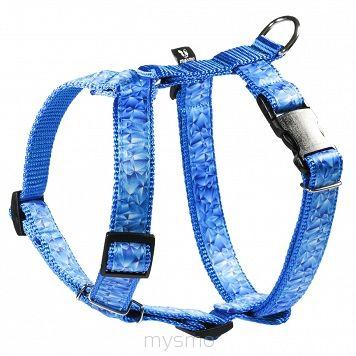 Szelki dla psa POLYGON BLUE, szelki typu guard, regulowane szelki dla psów MYSMO  #szelkidlapsa #szelki #dlapsa