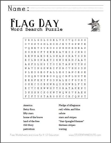 Dynamic image throughout flag day printable activities