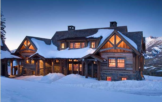 326 best images about cabin on pinterest see best ideas for Cabin builders montana