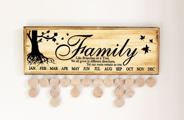 Family Birthday Sign Birthday Board Like by BirthdaySigns on Etsy
