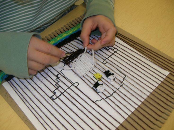 Weaving on Cardboard Looms - Gr. 5 & 6