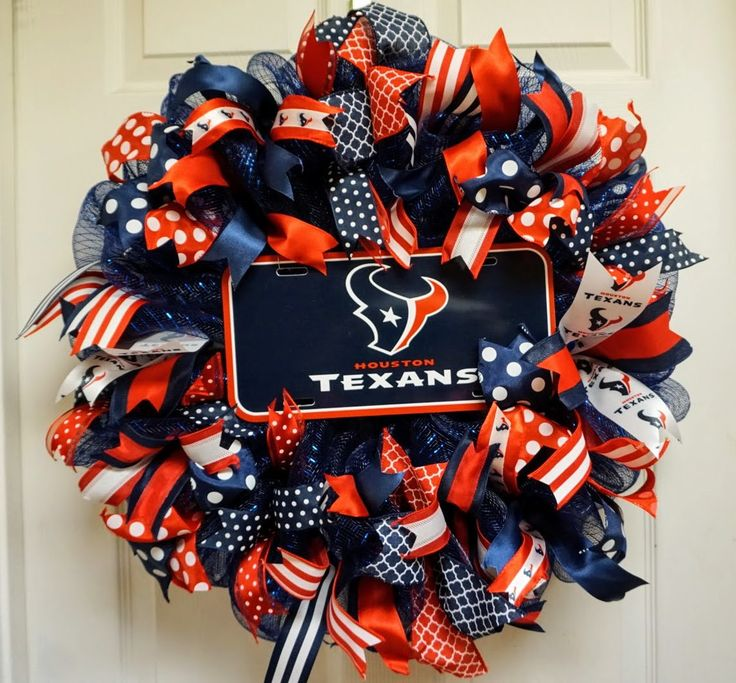 Texans Wreath, Houston Texans Wreath, Houston Wreath by Texascaseyscreations on Etsy