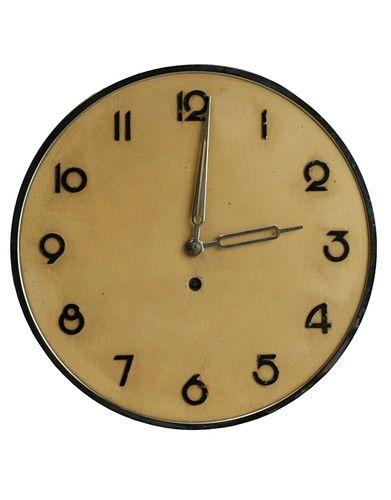 Wall Clock Art Design : Wilhelm kienzle sleek art deco modernism german