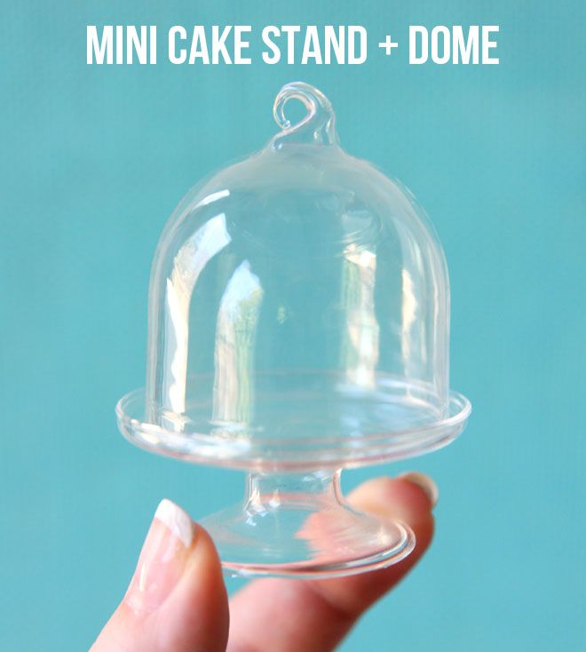 love these mini cake stands and domes from Michaels ... 3 inches tall