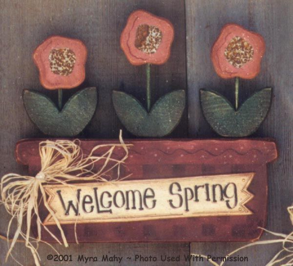 000104 3 Welcome Spring Signs Summer Myra Mahy Country