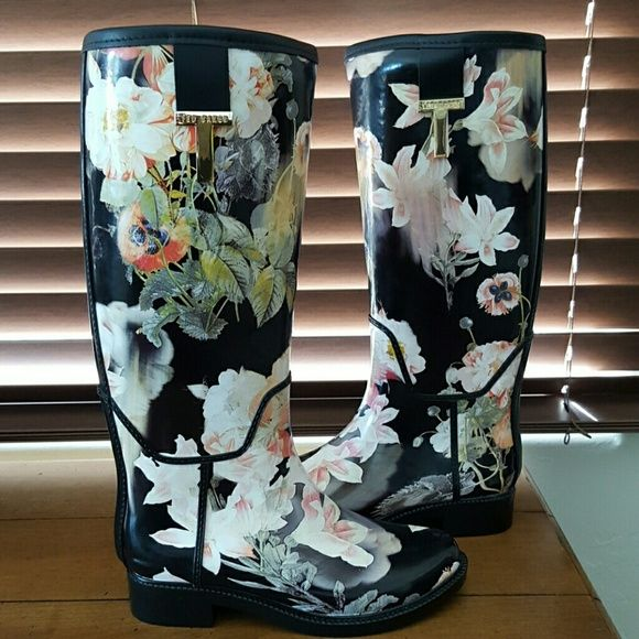 SALE! Ted Baker Karriner Rain boots 35/35 US 5-6 Brand new in box  UK 3 EU 35-36 US 5 SOLD OUT IN STORES AND ONLINE  NO TRADES Ted Baker Shoes Winter & Rain Boots
