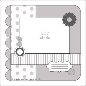 Sketch 65 Scrapbook Layout