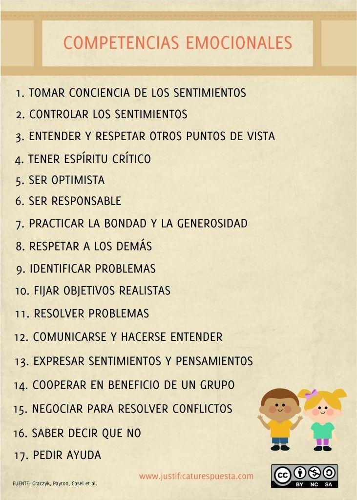 17 Competencias emocionales para enseñar a tus alumnos