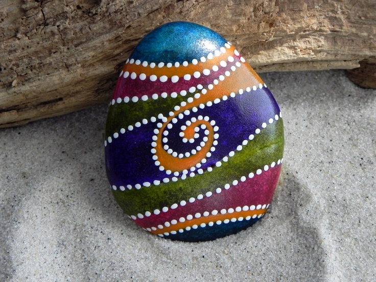 ZEN egg /Painted Rock / Cape Cod / Sandi Pike by LoveFromCapeCod