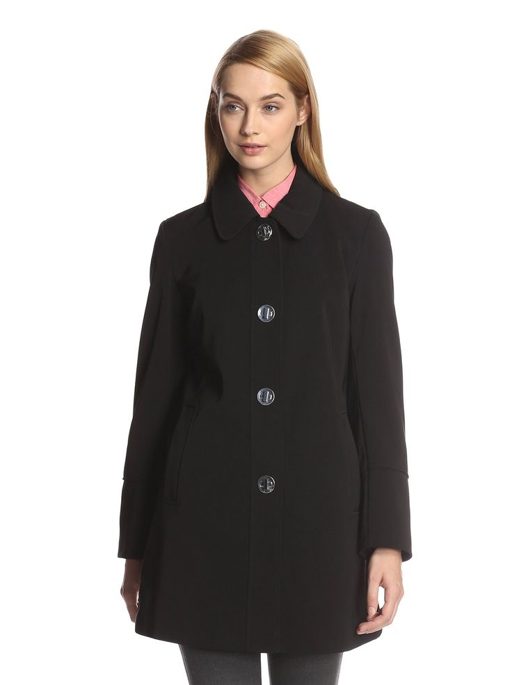 Amazon.co.jp: [ロンドンフォグ] London Fog ターンスナップキーボタンのスナップアップ コート ピーコート Women's Turn Key Snap Coat, Black【並行輸入品】: 服&ファッション小物通販