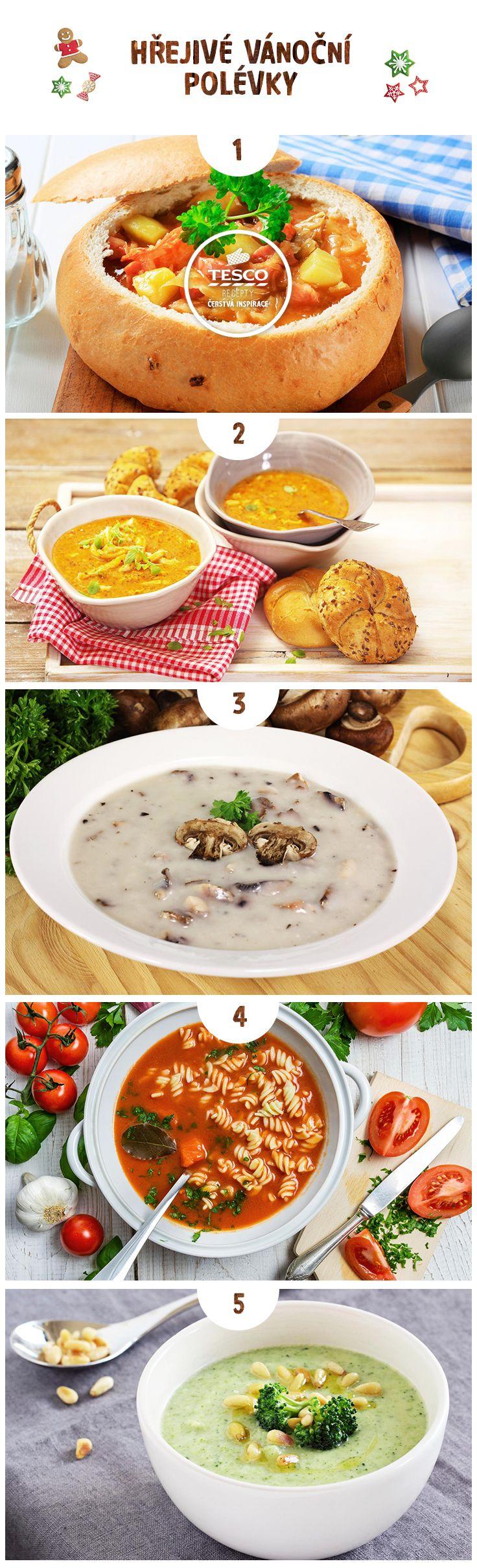 Připravte si hřejivé vánoční polévky!