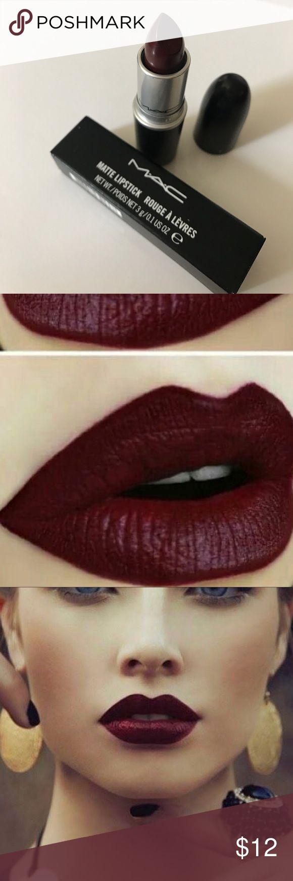 "MAC ""Sin"" Lipstick (NEW IN BOX!) Brand new in box, 100% authentic Mac lipstick in the hottest fall/winter shade ""sin"". MAC Cosmetics Makeup Lipstick"