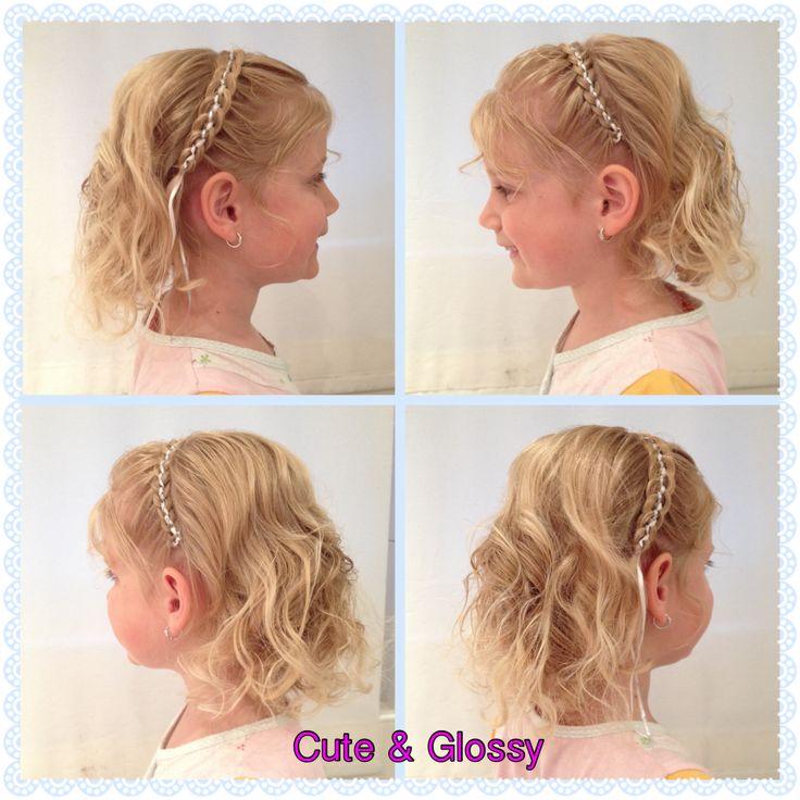 5 strengen met lint haarbandvlecht