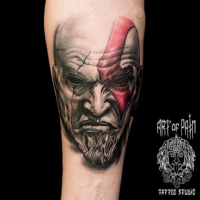 Kratos god of war tattoo realistic tattoos pinterest for Child of god tattoo