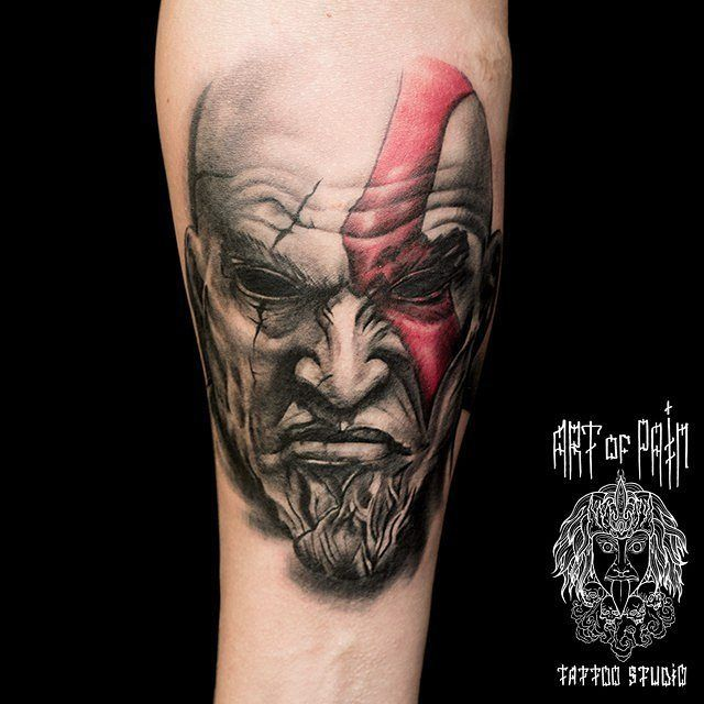 Kratos god of war tattoo realistic tattoos pinterest for Japanese war tattoos