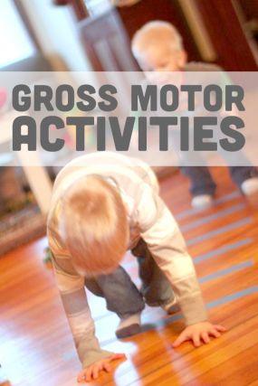 Lots of fun gross motor activities for kids