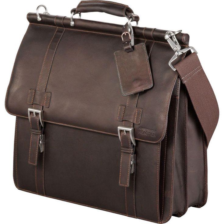 "Kenneth Cole Colombian Leather Dowel Rod Messenger Bag 15.6"" Laptop / MacBook  #KennethCole #ComputerMessengerBag"