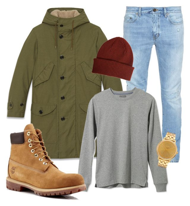 """""""winter4"""" by adela-simkova on Polyvore featuring Yves Saint Laurent, L.L.Bean, Timberland, Paul Smith, Nixon, men's fashion and menswear"""