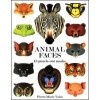 Animal Faces: 15 Punch-Out Masks Handprint Books - By Pierre Marie Valat