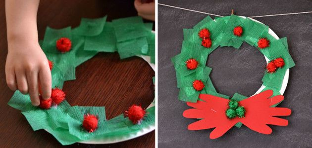 Corona de Navidad para adornar la puerta #christmas #xmas #craft #diy
