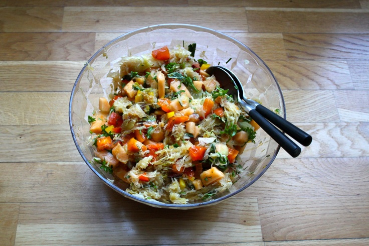 Try this! Even if you're not vegan ;) MMM vegan autumn Food - Sauerkraut salad & salty cookies