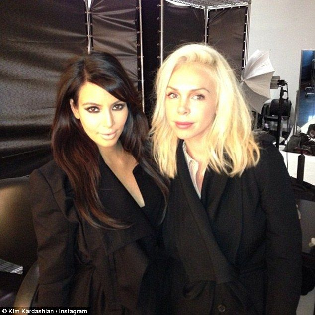Kim Kardashian's (left) terrified 'high school BFF' Simone Harouche (right) is reported to have texted her bodyguard after hiding in the bathroom during the £9m robbery in Paris