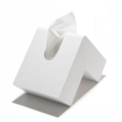 Distributeur � mouchoirs folio blanc