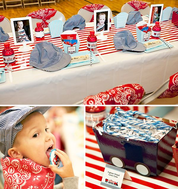 I think we're going to do a train themed party for Mason's 1st b-day Train- All Aboard!