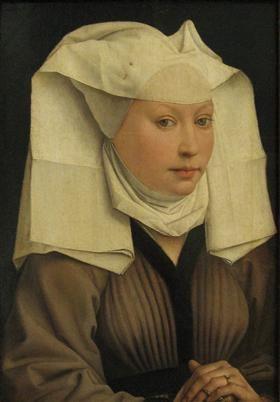 Portrait of a Young Woman in a Pinned Hat - Rogier van der Weyden