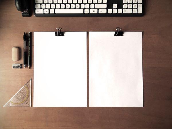 CV Mockup | Simple DinA4 on desk | Free psd on Behance