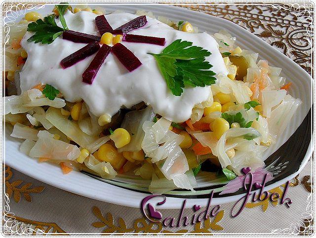haşlanmış lahana salatası