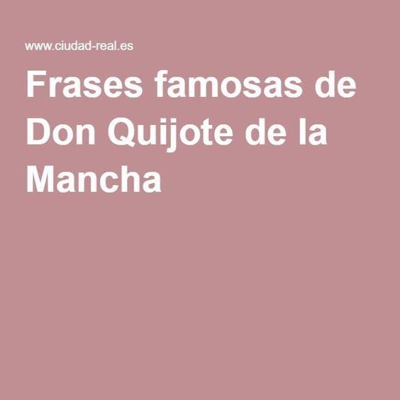 Frases famosas de Don Quijote de la Mancha