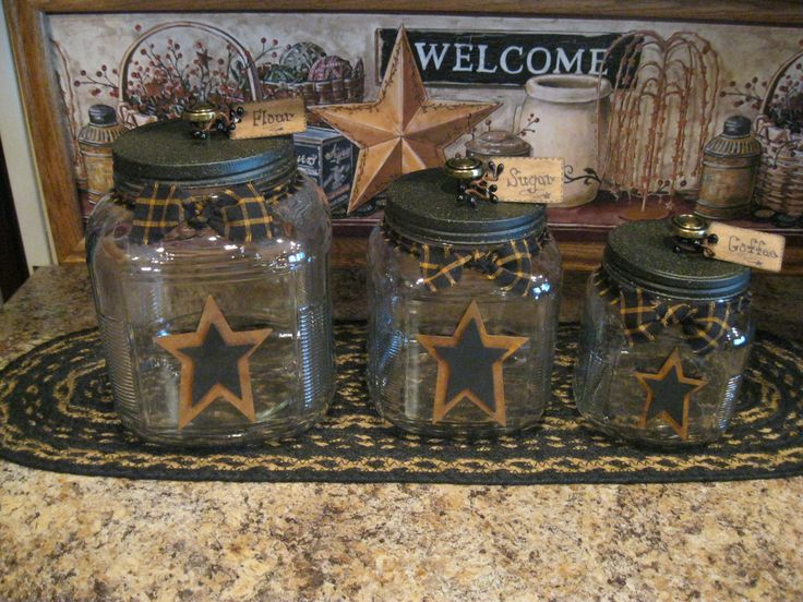 Best 25+ Primitive canisters ideas on Pinterest | Country ...