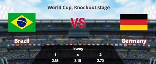 #Brazil vs #Germany - Betting #prediction http://buff.ly/VCGo7m Place your #bets here : http://buff.ly/VCGonD pic.twitter.com/CvTNAEQx4n