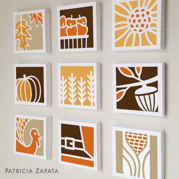 A Little Hut - Patricia Zapata: fall paper quilt  NOte: Use as inspir. for fall wall art. Lovely!