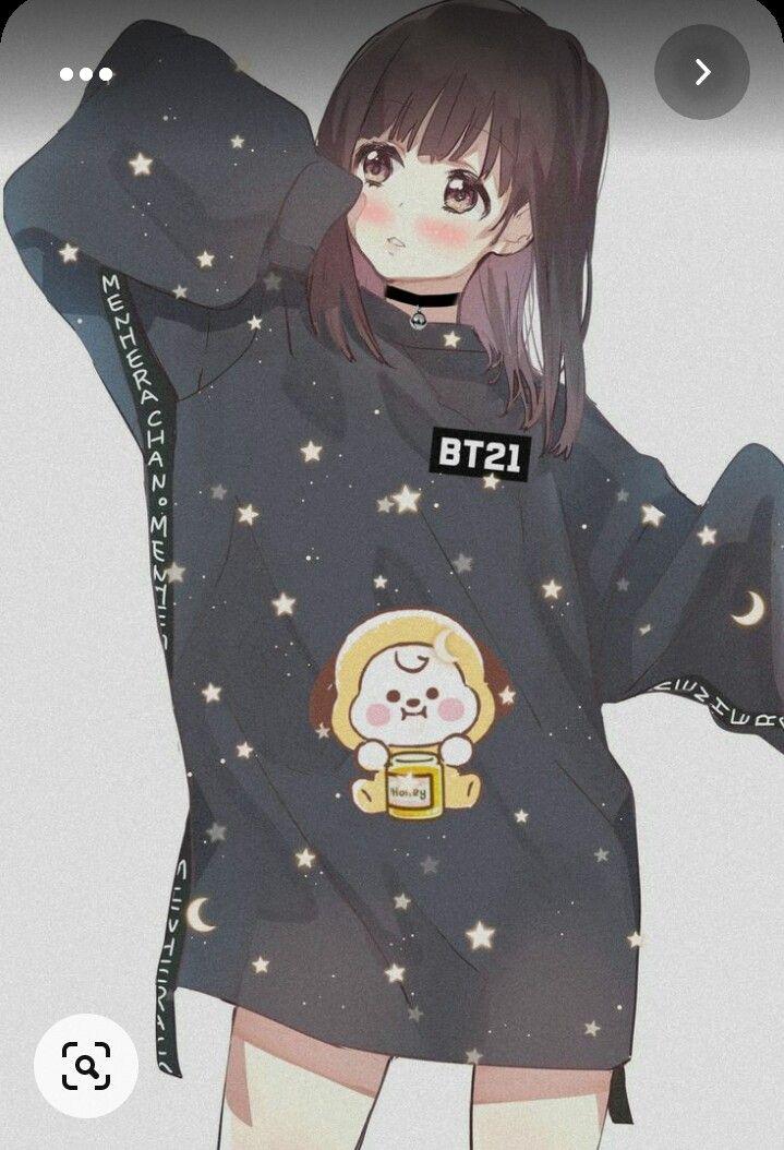 Pin On ارمي لابد Bts cute anime wallpaper