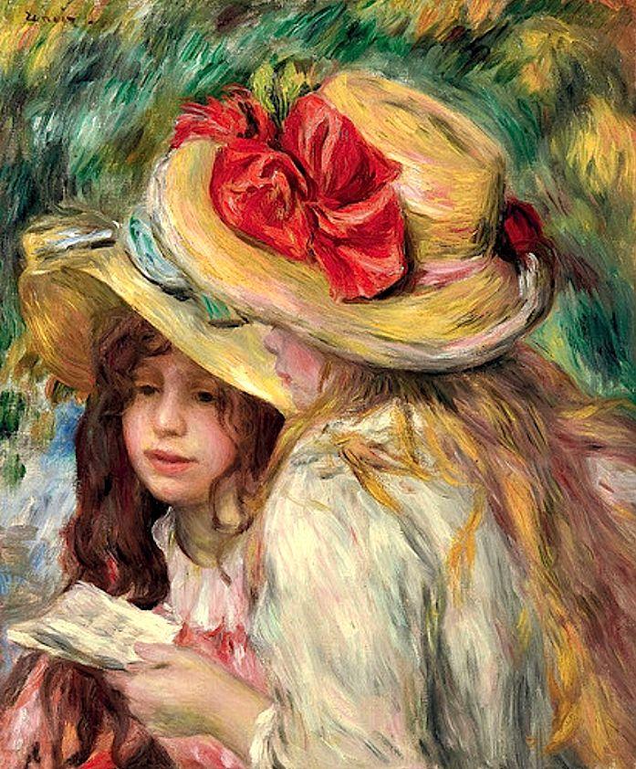 """""""Les deux soeurs"""" by Pierre-Auguste Renoir (1890-95)"""